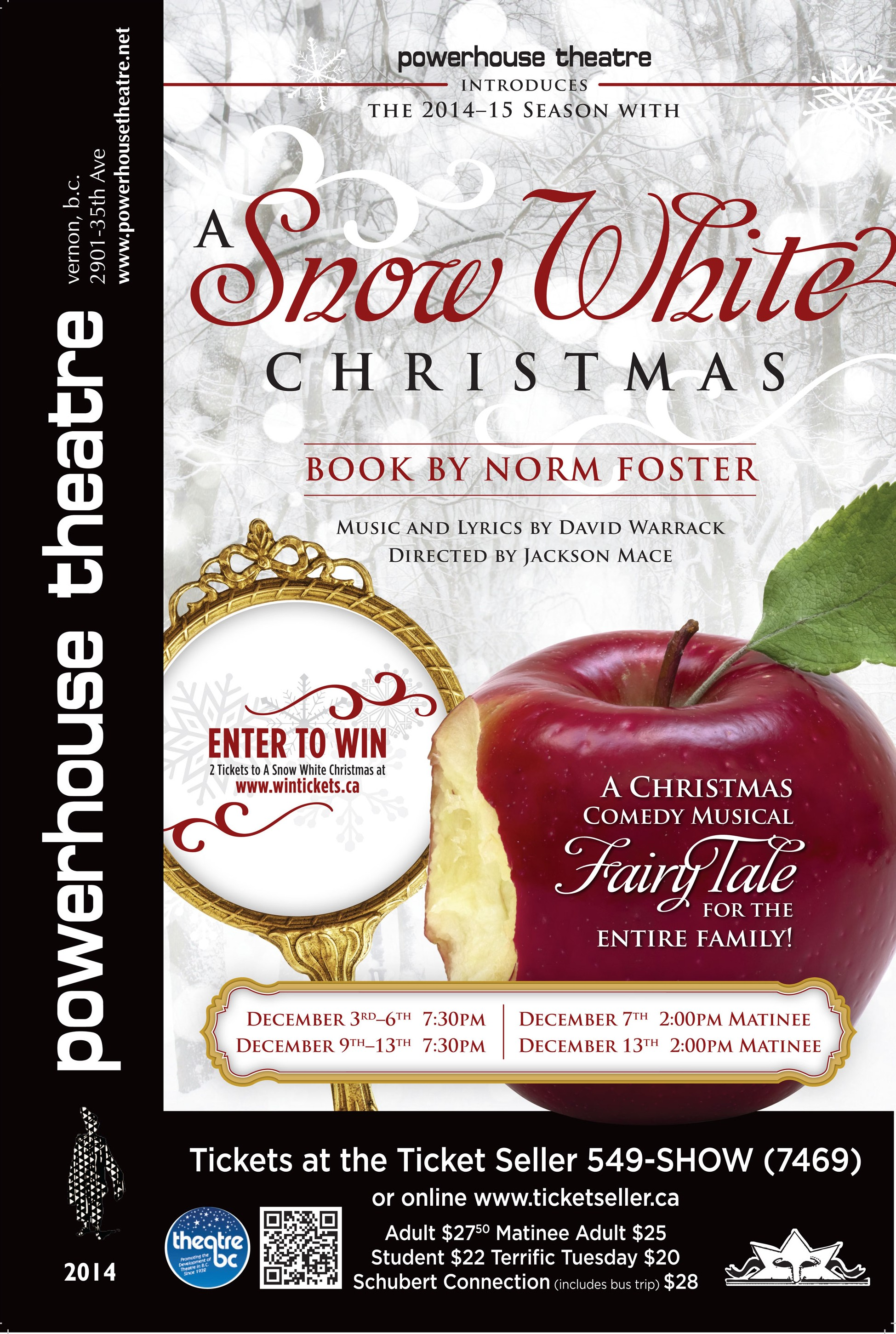 A Snow White Christmas.A Snow White Christmas Powerhouse Theatre